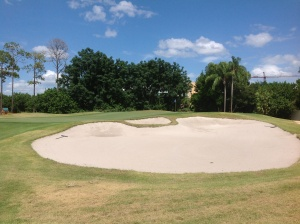 #2 Greenside bunker will be reduced in size.